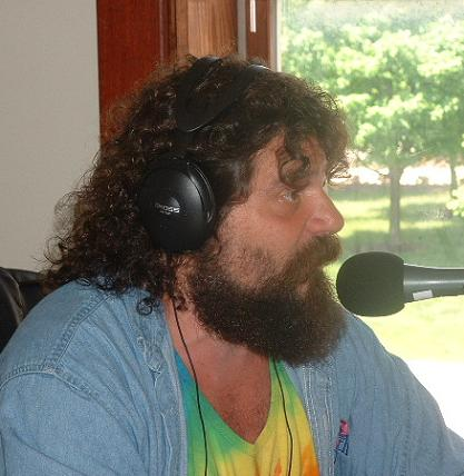 Rupert Boneham at the Monks Media Radio Network Studios